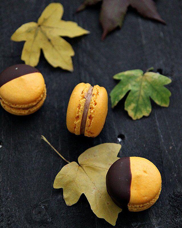 Autumn macarons - Pumpkin pie spice and cinnamon butter cream - Great British Chefs