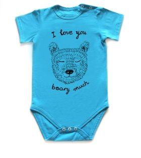 Baby body I love you beary much #bear #cutebaby #babybody #sweet #ecofriendly #babygrow #teddybear #illustration #handrawn #print #desing #art #fashionart #beautiful #pocopato #ekologiczne #modne #stylowe #słodkie #miś #print