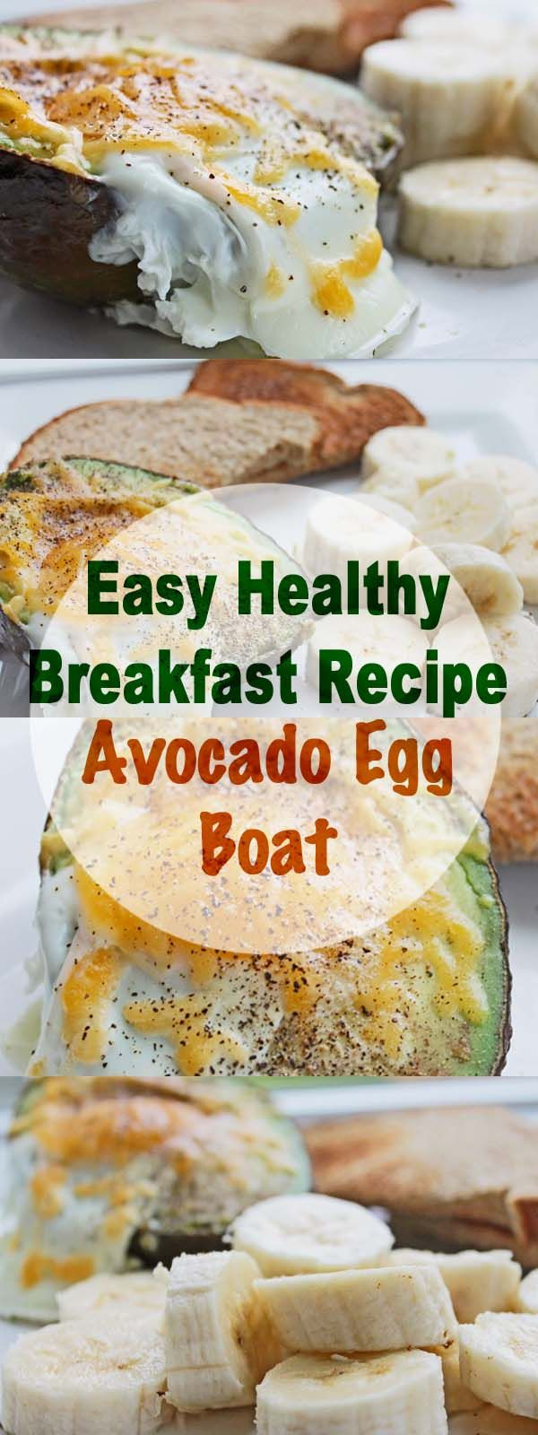 Easy Healthy Breakfast Recipe: Avocado Egg Boat