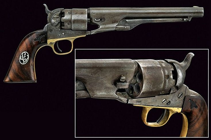 An 1861 model Colt Navy revolver, USA