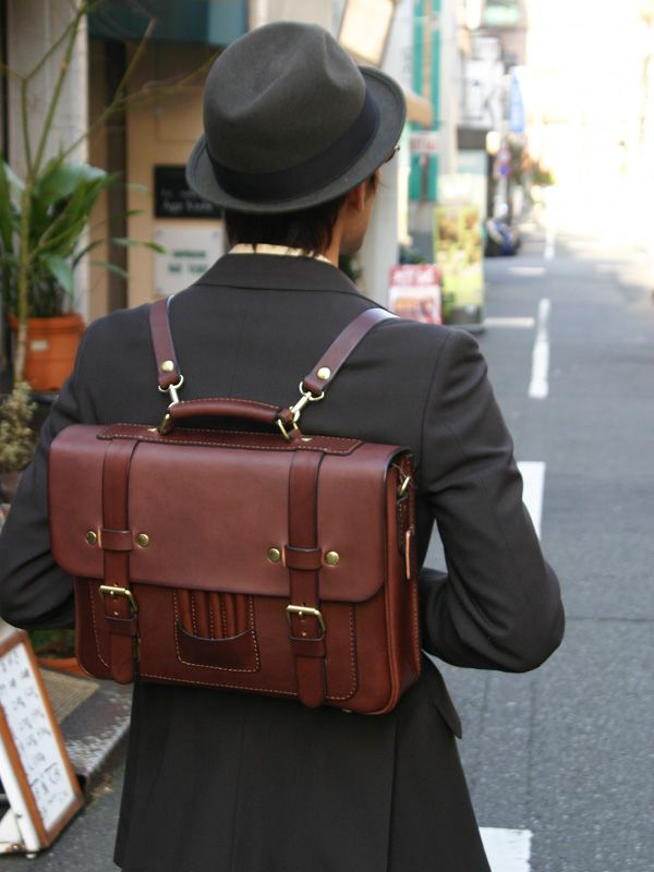 3way leather briefcase