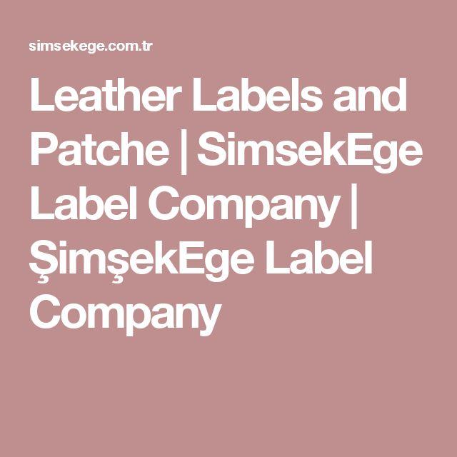 Leather Labels and Patche | SimsekEge Label Company | ŞimşekEge Label Company