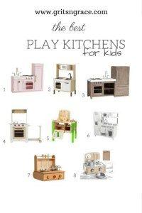 Play kitchen sets for kids// Ikea toy kitchen, HaPe toys, Pottery Barn Kids toy kitchen, Melissa & Doug // www.gritsngrace.com