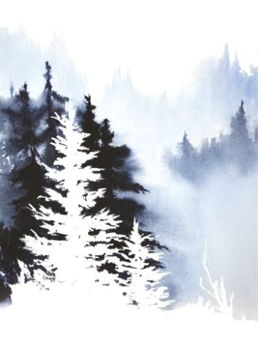 Forest Indigo. watercolor by Teresa Ascone, uploaded to Saatchi Art.