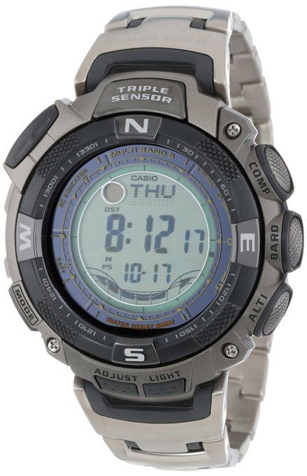 how to adjust time on casio pathfinder watch