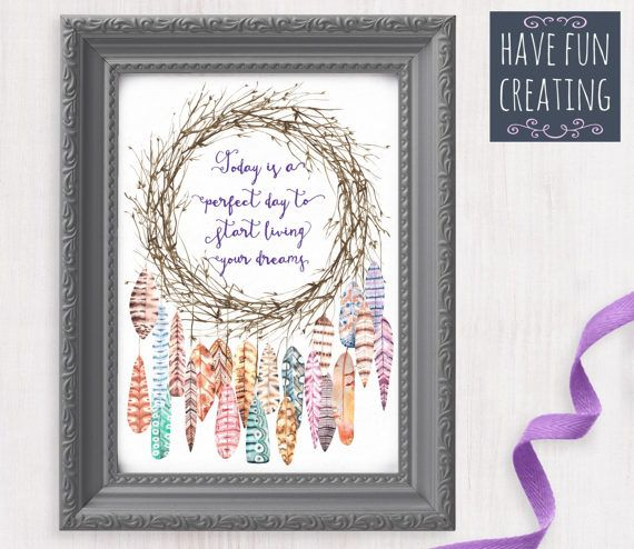 Dreamcatcher Poster Follow your dreams  Print by havefuncreating