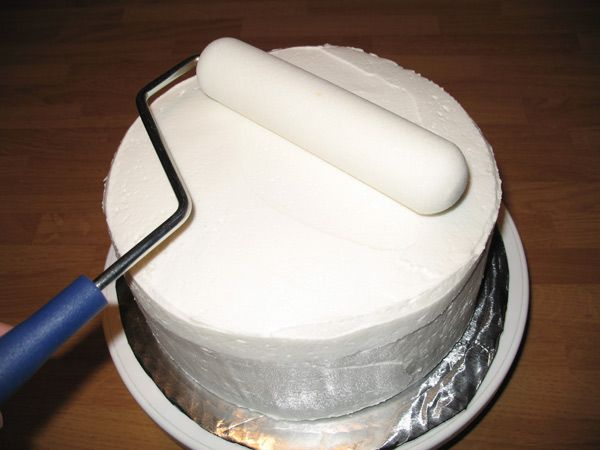 Step 3 How To Get Smooth Icing using a Paint Roller (Melvira Method)---my new favorite method for smoothing cakes -- it makes it so much easier totally try it!!