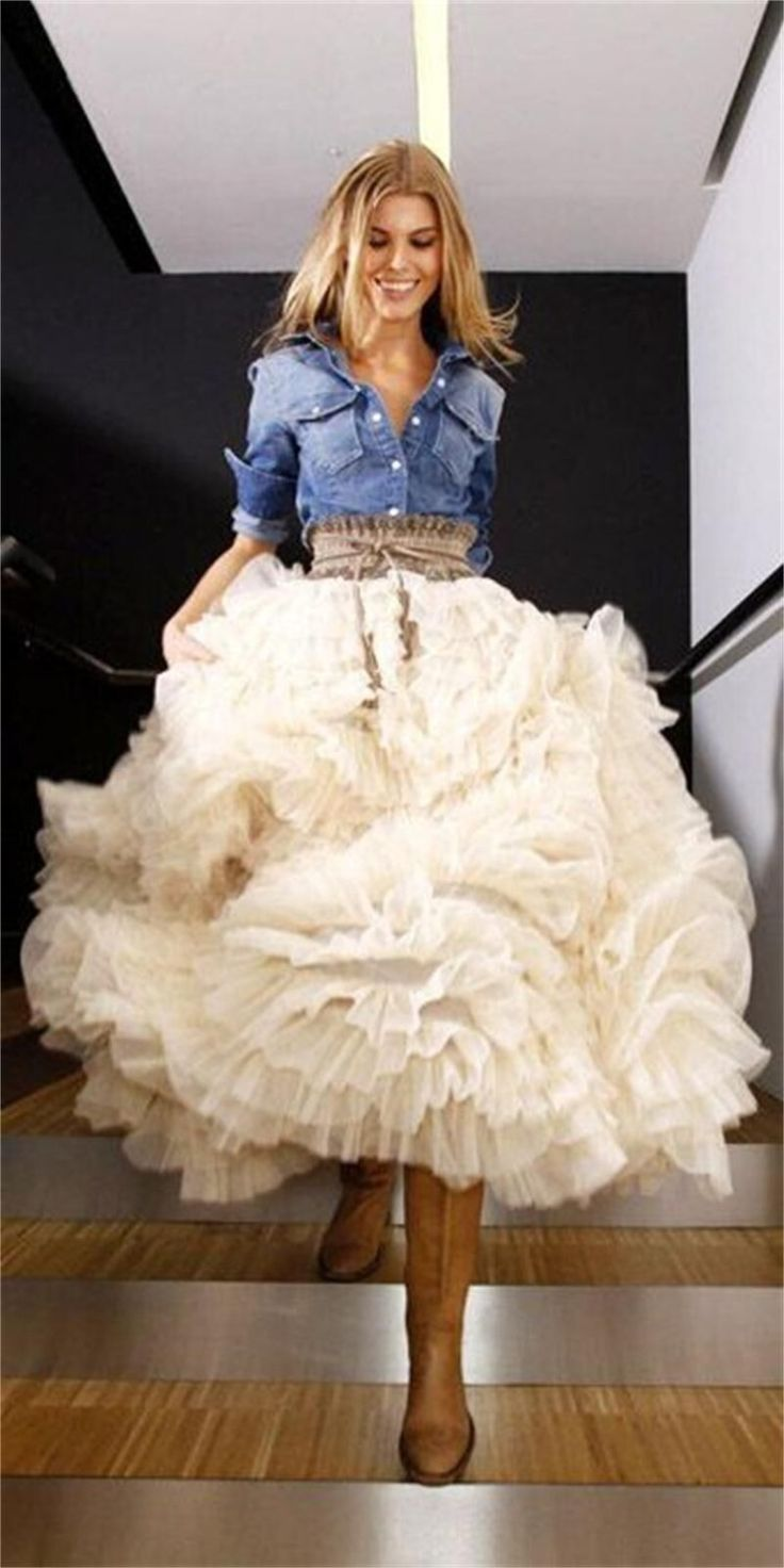 Fashion Style Saias Femininas Long Princess Fairy Style Tulle Ruffles Back Bouffant Puffy Long Skirts Multi Layers