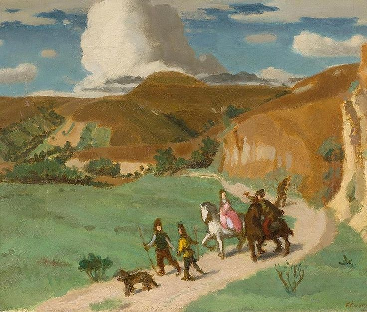 Fényes, Adolf (1867-1945) - Riders and shepherds.