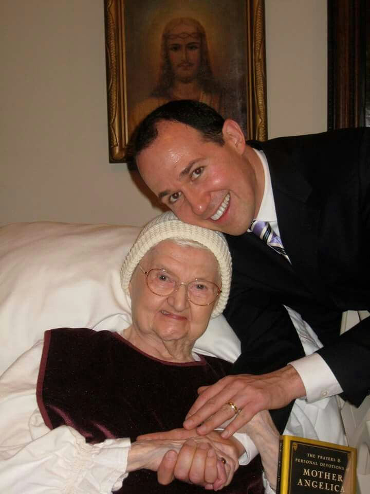 Mother Angelic and Raymond Arroyo celebrate her book.