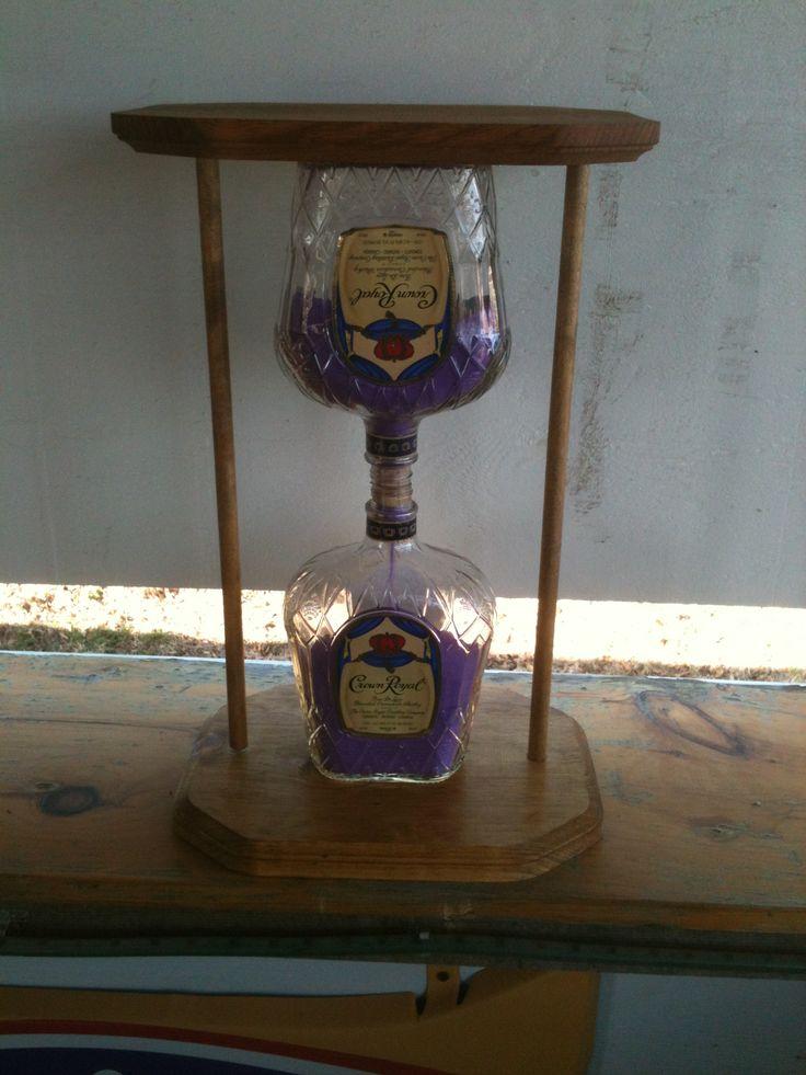 Crown Royal decorative sand timer!
