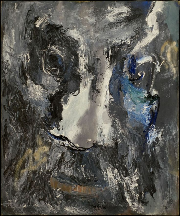 """Albert Kotin, Head, c.1968. Oil on canvas, 29 3/4"""" x 36"""" Literature: Marika Herskovic, American Abstract and Figurative Expressionism: Style is Timely Art is Timeless. Page: 142 http://www.amazon.com/American-Abstract-Figurative-Expressionism-Timeless/dp/0967799422/ref=sr_1_3?ie=UTF8&qid=1386777847&sr=8-3&keywords=Marika+Herskovic"""