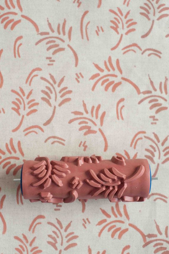 Powder Room Option: (just ignore the colors on these): No. 5 Patterned  Paint Roller from The Painted House (for fabric & wood use only).