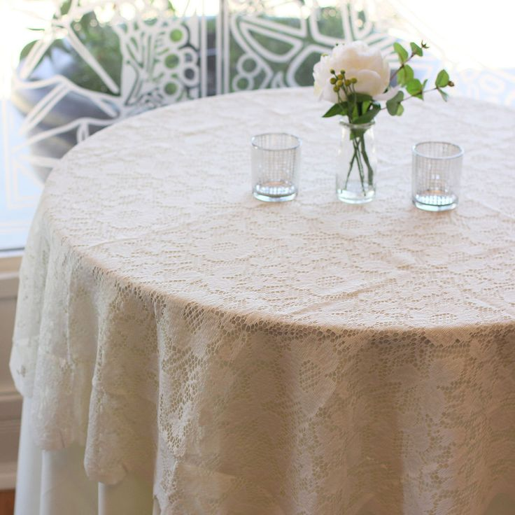 25 best ideas about lace tablecloth wedding on pinterest for Wedding reception table linen ideas