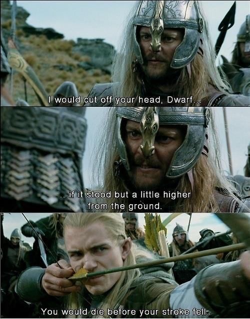 Friendship level: Gimli and Legolas