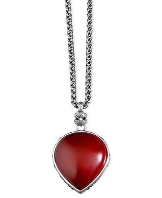 Lucky Brand Necklace, Red Pendant - Fashion Jewelry - Jewelry & Watches - Macy's
