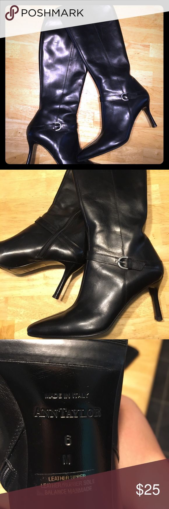 Ann Taylor black leather spike heel boots, EUC Excellent used condition, Ann Taylor spike heeled boots, size 6 women's. Minor signs of wear, only worn inside twice. Add these to your shoe collection for a fraction of retail cost! Ann Taylor Shoes Heeled Boots