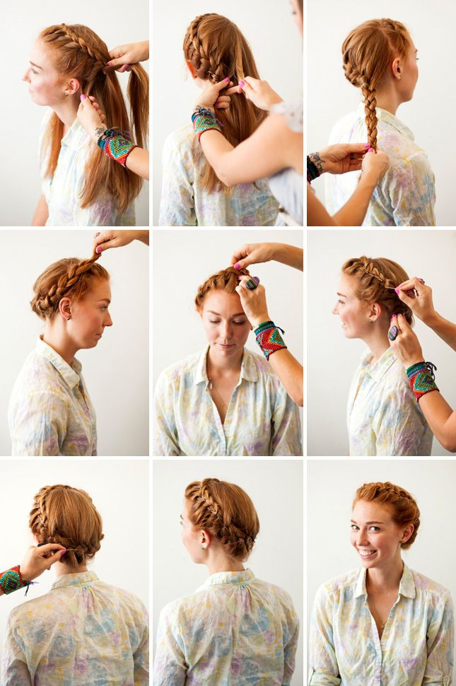 French Crown Braid | 3 New Ways to Add Bobby Pins to Your 'Do