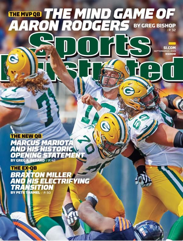 "Aaron Rodgers: SI Cover Boy -- Green Bay Packers quarterback Aaron Rodgers on the cover of this week's national edition of Sports Illustrated. ""The Mind Game of Aaron Rodgers."""