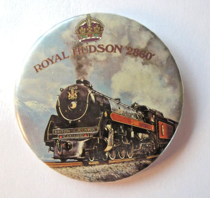 "Steam Engine Royal Hudson 2860 First Lady of Steam  3"" Canadian Railroad Pin"