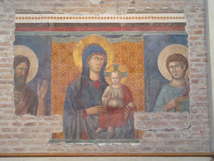 http://abel.livejournal.com/468389.html Фреска Пьетро Каваллини - Мадонна с Младенцем c Иоанном Крестителем и Иоанном Евангелистом. Santa Maria in Ara Coeli, Рим.
