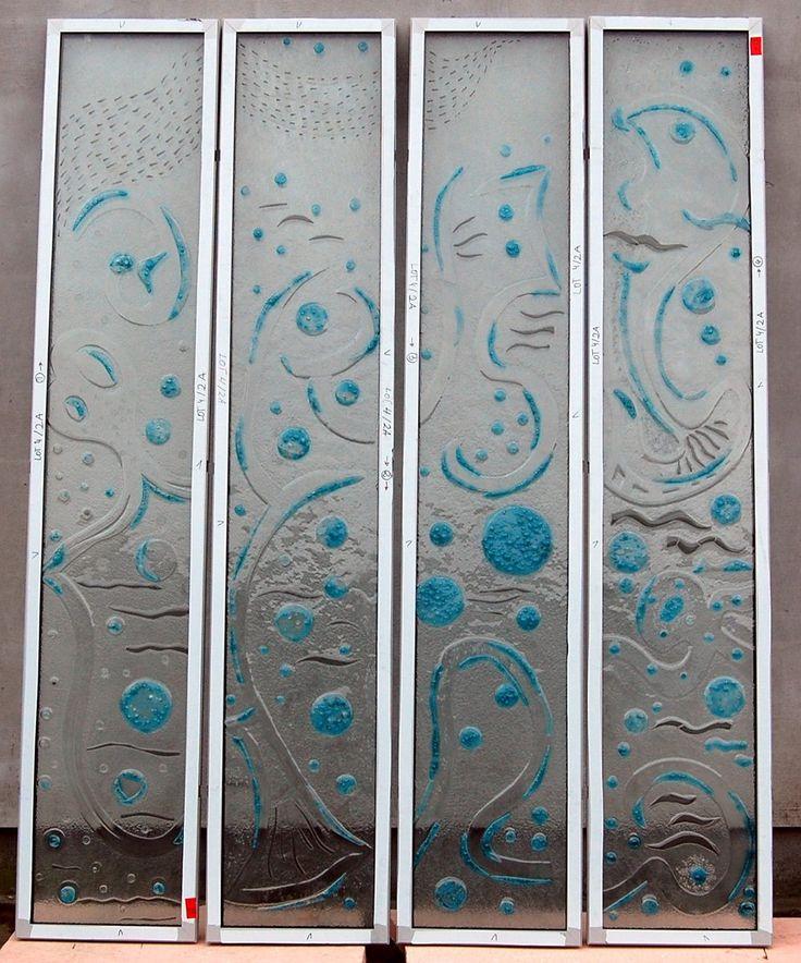 Fusing szkło stapiane w ramach z manufaktury Riwal. Fusing. Fused glass.