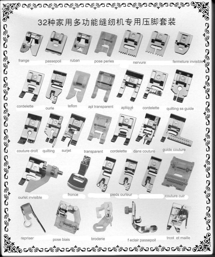 32pcs Pieds-de-biche multifonctionnel pour Machine à coudre domistique: Amazon.fr: Cuisine & Maison