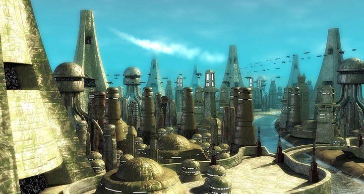 futuristic cityscapes - Google Search
