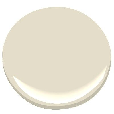 Benjamin Moore Creamy White: its old color name was Spring In Aspen. A soothing neutral, a pale warm greige. A pottery barn favorite. Nice with Mascarpone trim. Nice with blues and blue/greens.