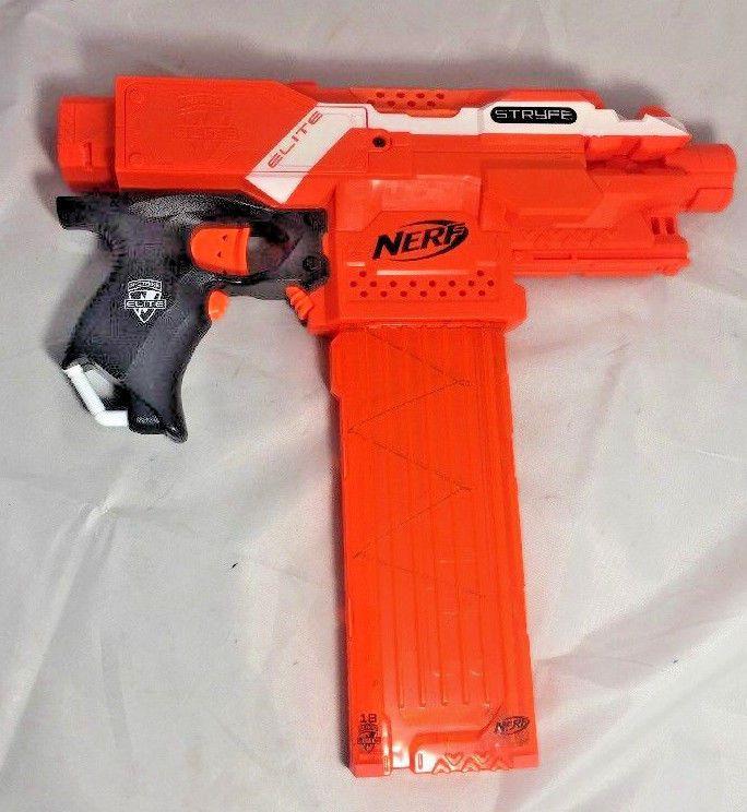 Nerf N-Strike Elite Orange Stryfe Dart Gun - With 18 Round Magazine