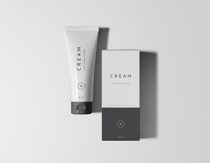 Essential Cosmetics Packaging Set Mockup Cosmetics Mockup Cosmetic Packaging Free Packaging Mockup