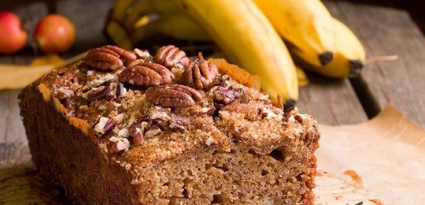 chleb, chlebek, ciasto, placek, bochenek, banany