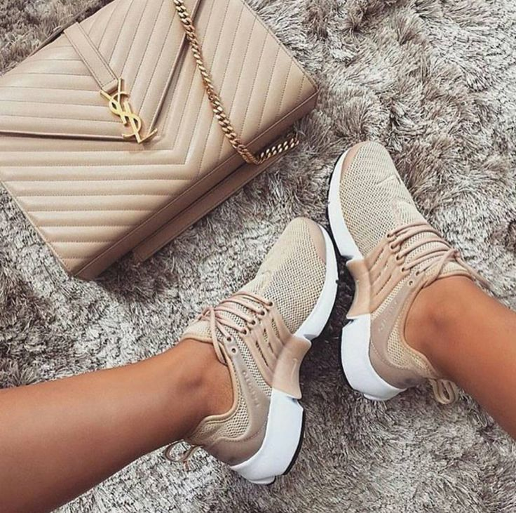 Nude NikeTrainers X YSL Bag X Follow Me
