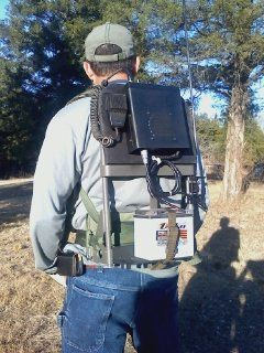 Ham Radio Back Pack Idea. This guy is using a CB radio, but just substitute the CB for a Yaesu FT-1900R and you have a mobile station. You can also add a solar panel to this for an off-grid setup.