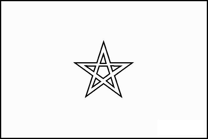 Drapreau : Drapeau du Maroc à colorier : 0