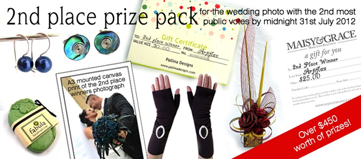 2nd prize for the Wedding Photo with the second most public votes by midnight 31st of July 2012