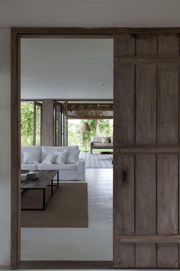 The wooden door. It's so nice for having in your house! #rural #architecture #wooden #door #living