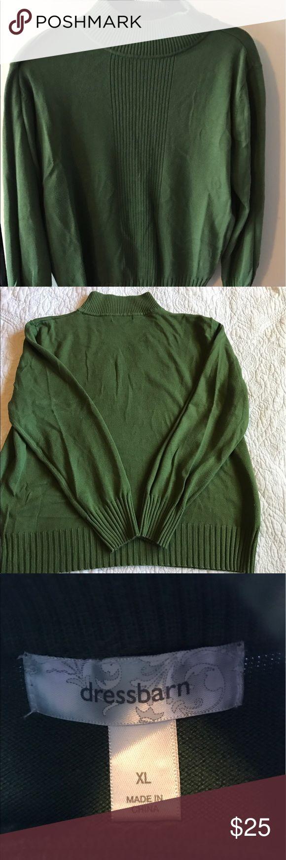 Dressbarn XL Green sweater Excellent condition Dressbarn XL Green mock turtleneck sweater Dress Barn Sweaters Cowl & Turtlenecks