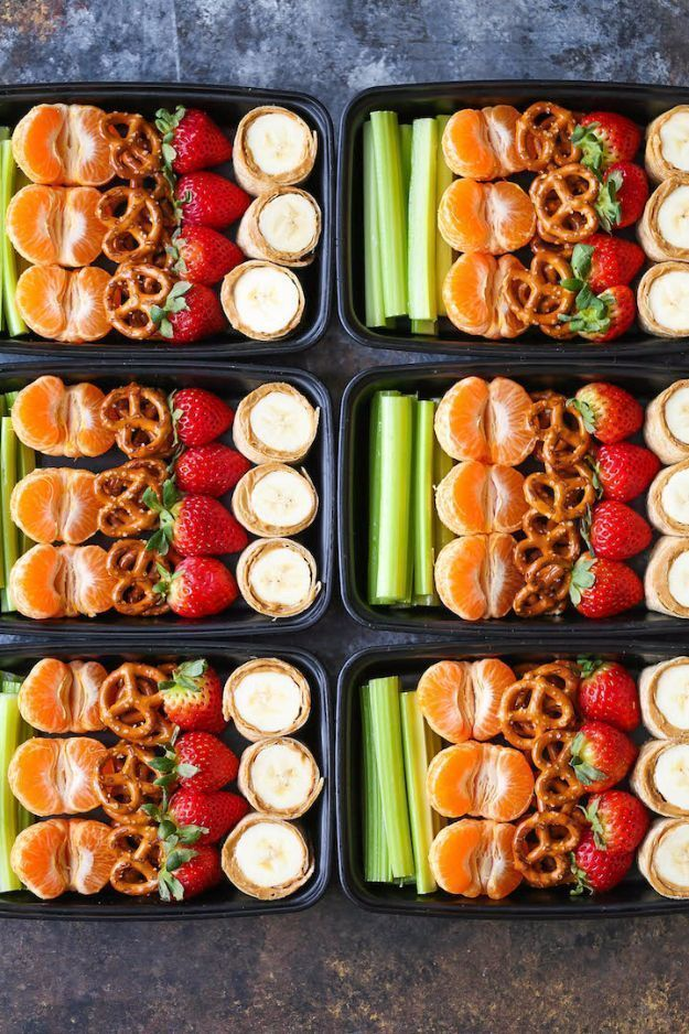 Back to School Lunch Ideas - Peanut Butter And Banana Roll-Ups Snack Box - Quick Snacks, Lunches and Homemade Lunchables - Bento Box Style Lunch for People in A Hurry - Fast Lunch Recipes to Pack Ahead - Healthy Ideas for Kids, Teens and Adults http://diyjoy.com/back-to-school-lunches #healthyeatingforteens