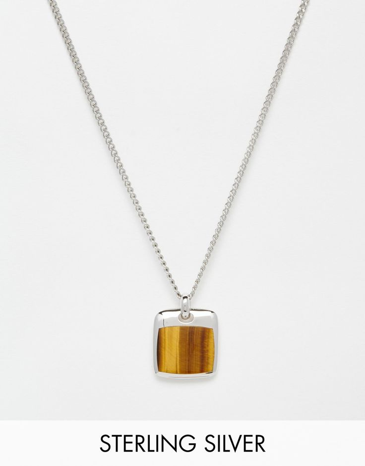 Seven London Tigers Eye Necklace - Silver