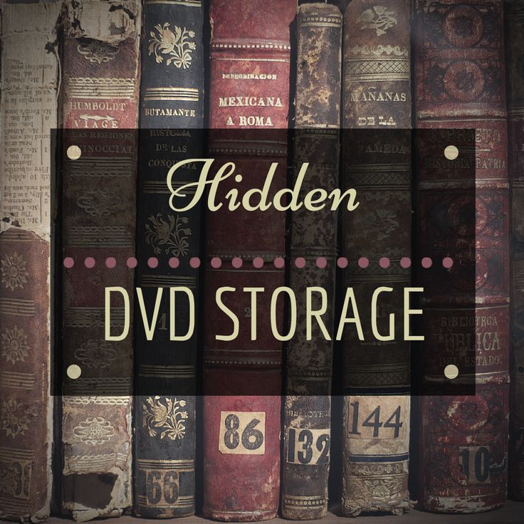 The Haunted Housewife - Hidden DVD Storage. Yes, I am aware that these are books. Let me show you how that ties in with my storage solution!
