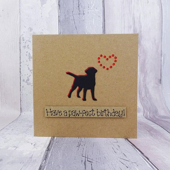 Labrador birthday card Black Labrador card Handmade birthday