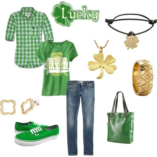 st patrick's day outfit! cute A&F shirt!!