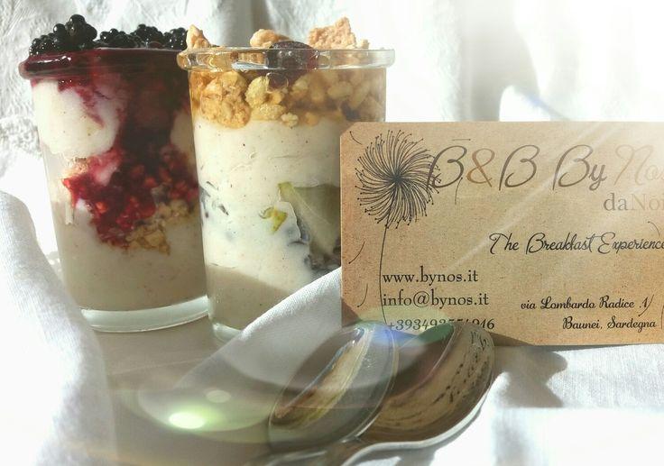 www.bynos.it ricotta cream with orangehoney..biomüsli..pear and cinnamon..and chocochips..😊