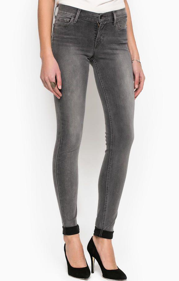 Серые джинсы со средней посадкой 1778000220 super skinny, mid rise, заужены книзу, средняя посадка, пять карманов, джинсы застегиваются на молнию и болт, плотность денима - 11,2 унций, купить в интернет-магазине. Цена: 5950