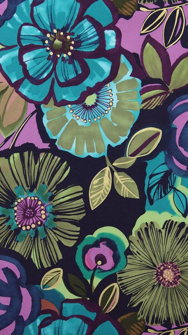 iPhone wallpaper floral aqua teal turquoise
