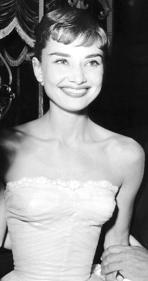 Audrey Hepburn, beautiful smile.                                                                                                                                                                                 More