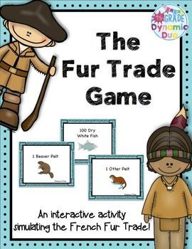 Teaching the Fur Trade? This is a great way to get students thinking using a hands on activity. The activity allows students to be split into five groups.     1. Voyageur Group 1      2. Voyageur Group 2     3. The Potawatomi Tribe     4. The Delaware Tribe     5.