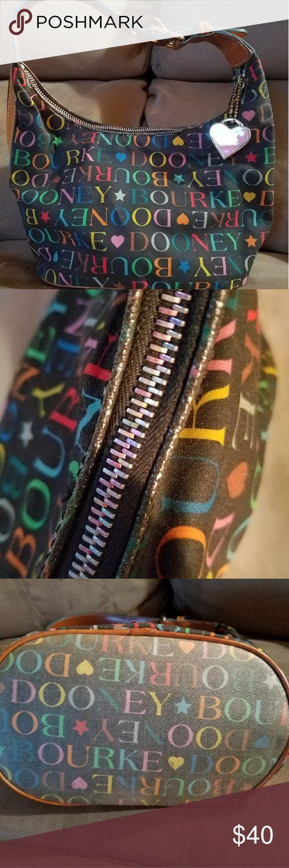 Dooney & Bourke Mini Hearts Graffiti Bag Great Condition! Very little wear Dooney & Bourke Bags Shoulder Bags