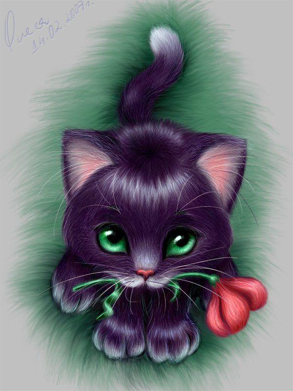 Красивые картинки мультяшных котов
